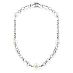 Zinzi collier 5 crystal parels Zic280-45