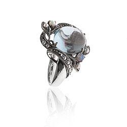 Zilveren Ring Topaas Opaaltjes Pareltjes