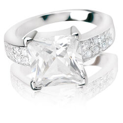 Zinzi ring wit zirconia Zir265