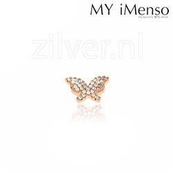 MY iMenso Jiving Rose Vergulde Vlinder Zirkonia 28-0119