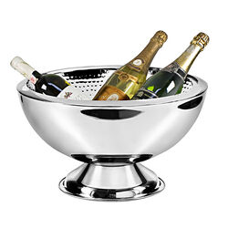 Stalen champagnekoeler Cadiz binnenkant gehamerd