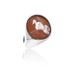 zilver ring camee Tinkerbel van Diluca