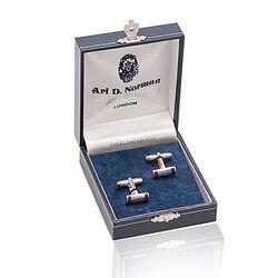 Juweliersrestant Zilveren Manchetknopen Carneool