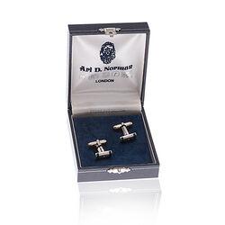 Juweliersrestant Zilveren Manchetknopen Malachiet
