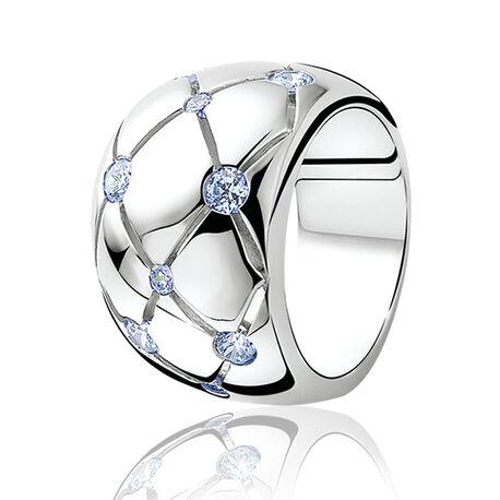 Zinzi Ring Blauw Zirkonia Zir566b
