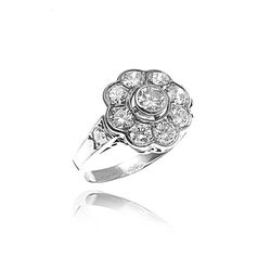 Occasion platina ring briljant