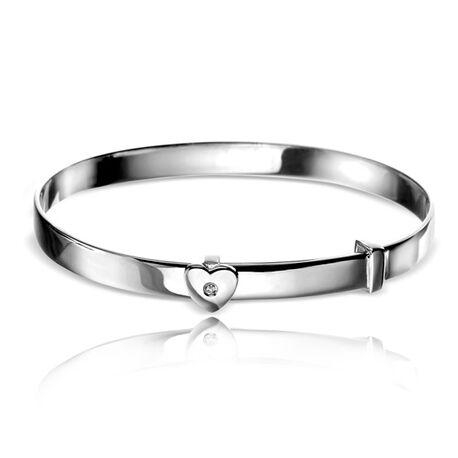D For Diamond Armbandje Hart