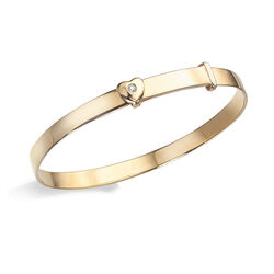 Gouden armbandje met diamantje voor kinderen van D for Diamond