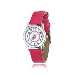 D For Diamond Horloge Fuschia Leren Band