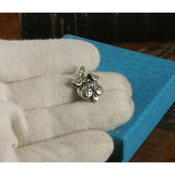 Zilveren hondenkop hanger of bedel Raspini