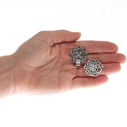 zilver mantelhaakje bloem