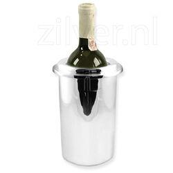 Verzilverde gladde strakke wijnkoeler
