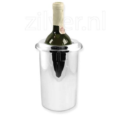 Zilveren wijnkoeler glad strak