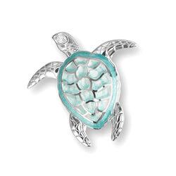 Zilveren broche zeeschildpad Nicole Barr