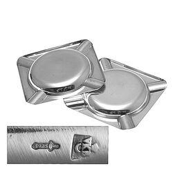 2 Zilveren Asbakjes