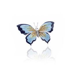 Grote zilveren miniatuur vlinder met emaille van Saturno