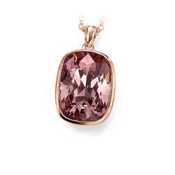 rosé hanger met paars swarovski crystal Elements