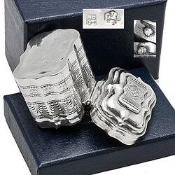 zilver lodereindoosje 19e eeuws