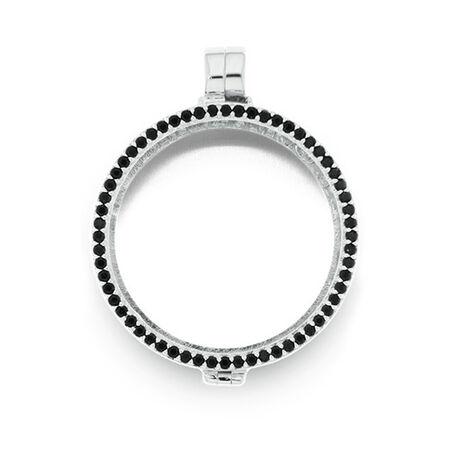 Zilver medaillon zwart zirkonia MY iMenso 33-0052