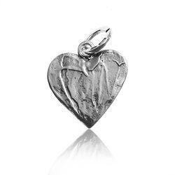 Zilveren hanger hart met lieveheersbeestje Raspini
