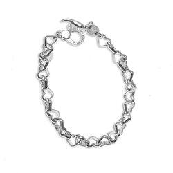 Zilveren hartjes armband Giovanni Raspini