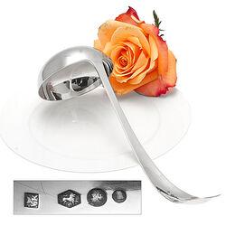 Zilver soeplepel model Haags lofje