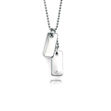 D For Diamond Collier Met Dogtags