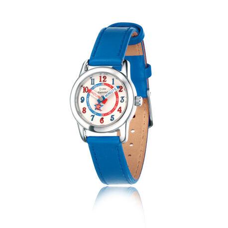 Jongens horloge blauw met diamantje D for Diamond