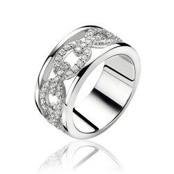 Zinzi Luxe Zilveren Ring Zirkonia Zir1088