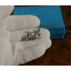 zilveren bedel of hangertje fiets Raspini