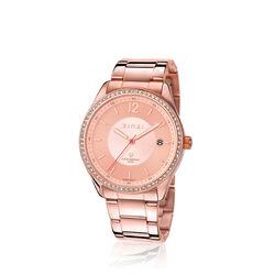 Zinzi rosé horloge staal zirkonia ZIW302