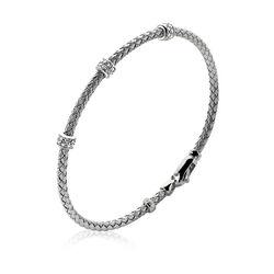 Zinzi Armband Kabelschakel Beads Zirkonia Zia1052