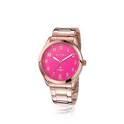 Zinzi rosé stalen horloge roze wijzerplaat ZIW208