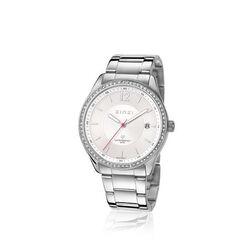 Zinzi stalen horloge witte wijzerplaat zirkonai ZIW301