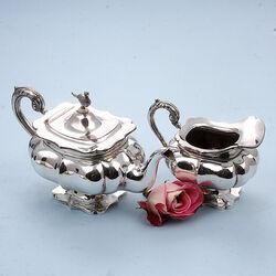 2 Delig zilveren servies Fazant