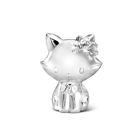 Verzilverde spaarpot poes Charmmy kitty