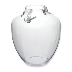 Raspini Glazen Vaas Met Zilveren Vlinders