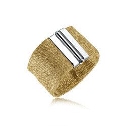 Adami & Martucci Armband Goud Verguld Mesh Met Zilver Slot Am205