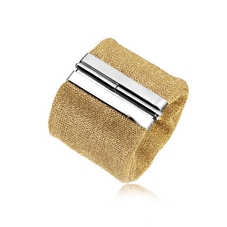 Mesh armband verguld met zilver slot Adami en Martucci