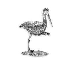 Miniatuur zilveren ooievaar