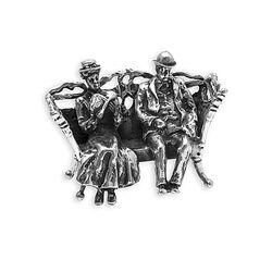 Miniatuur Voorstelling Echtpaar Op Bankje
