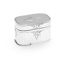 Zilveren nootmuskaatrasp doosje