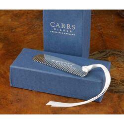 Zilveren babykam met lintje van Carrs