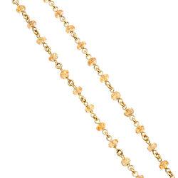 gouden collier geregen met geel saffier