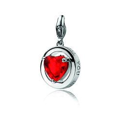 Zinzi bedel rood zirkonia hart Lovech05r