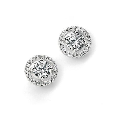 Zilver oorstekers zirconia E4909c Elements