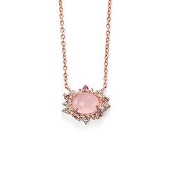 Rosé collier rozenquartz N3746p Elements
