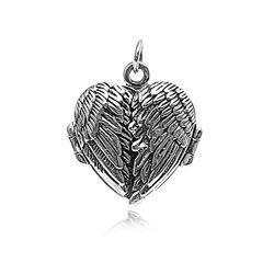 Zilveren Medaillon Engelenvleugels
