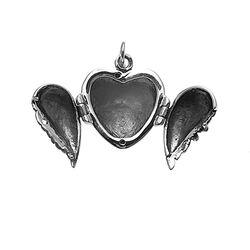zilver medaillon engelenvleugels
