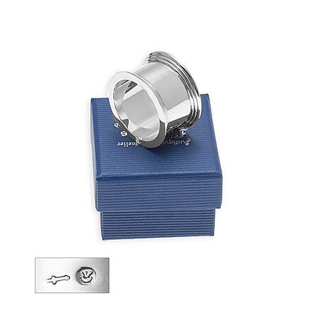 Zilver vingerdoekring filetrand